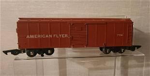 AMERICAN FLYER 734 Tuscan Brown painted car 1952-54