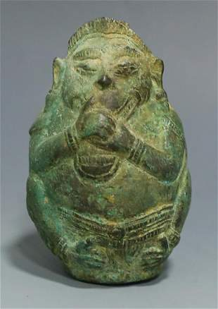 A Bronze figure statue bottle Han dynasty