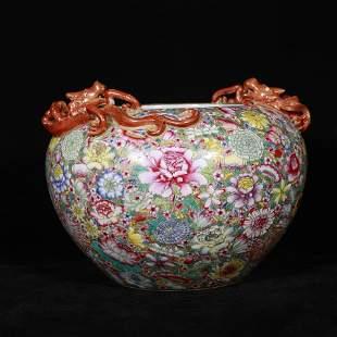 Qing porcelain brush washer