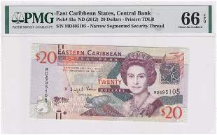 P-53a 2012 East Caribbean States 20 dollars PMG 66EPQ