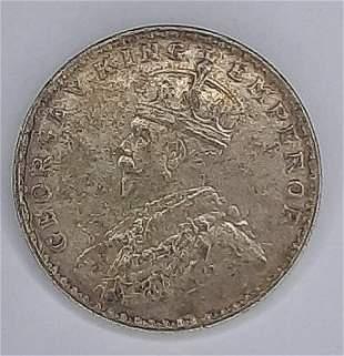 1920B India Rupee Silver Coin
