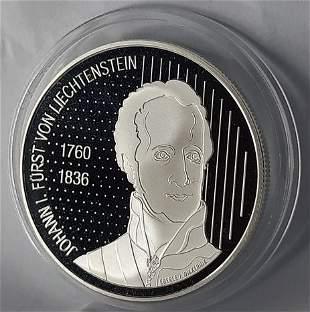 2006 Liechtenstein 10 Fr Silver Coin 200 years of Sov