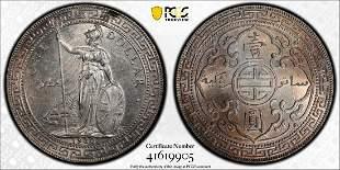 1930-B Great Britain Trade dollar PCGS UNC Silver Coin