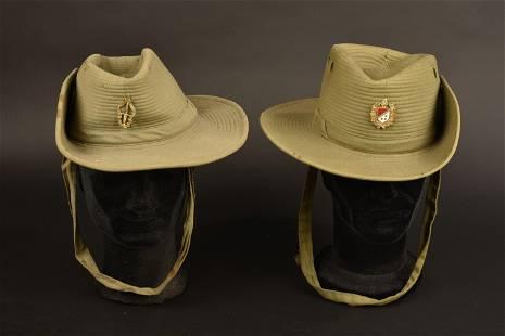 Chapeaux de brousse belge. Belgian bush hats