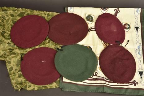 Ensemble de berets belge. Belgian beret set