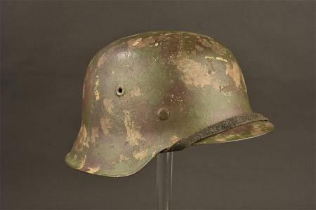 Casque camouflee. German Camo Helmet