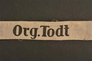 Bande de bras Organisation Todt. Organisation Todt