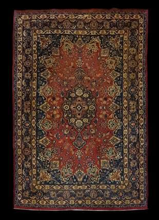 """Semi-Antique 9' 5"""" x 6' 6"""" Persian Mashad Area Rug"""