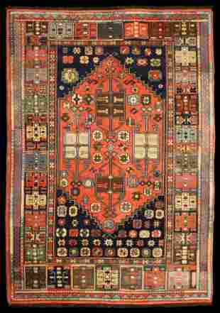 """New/Old Stock 6' 5"""" x 4' 5"""" Chechen Kargai Area Rug"""