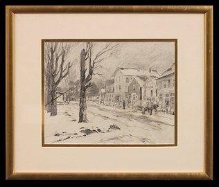 Will Vawter (1888-1945)  Sketch of Nashville