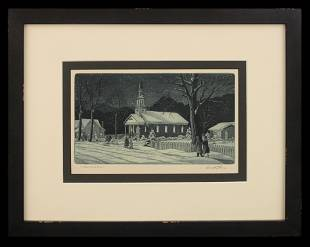 Kenneth Reeve (1910-2012) Christmas Eve