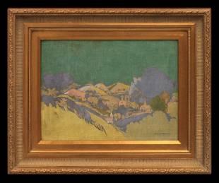 Musetta Stoddard (1874-1961) Fauvist Landscape