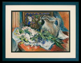 Leah Traugott (1924-2018) Still Life with Pitcher and