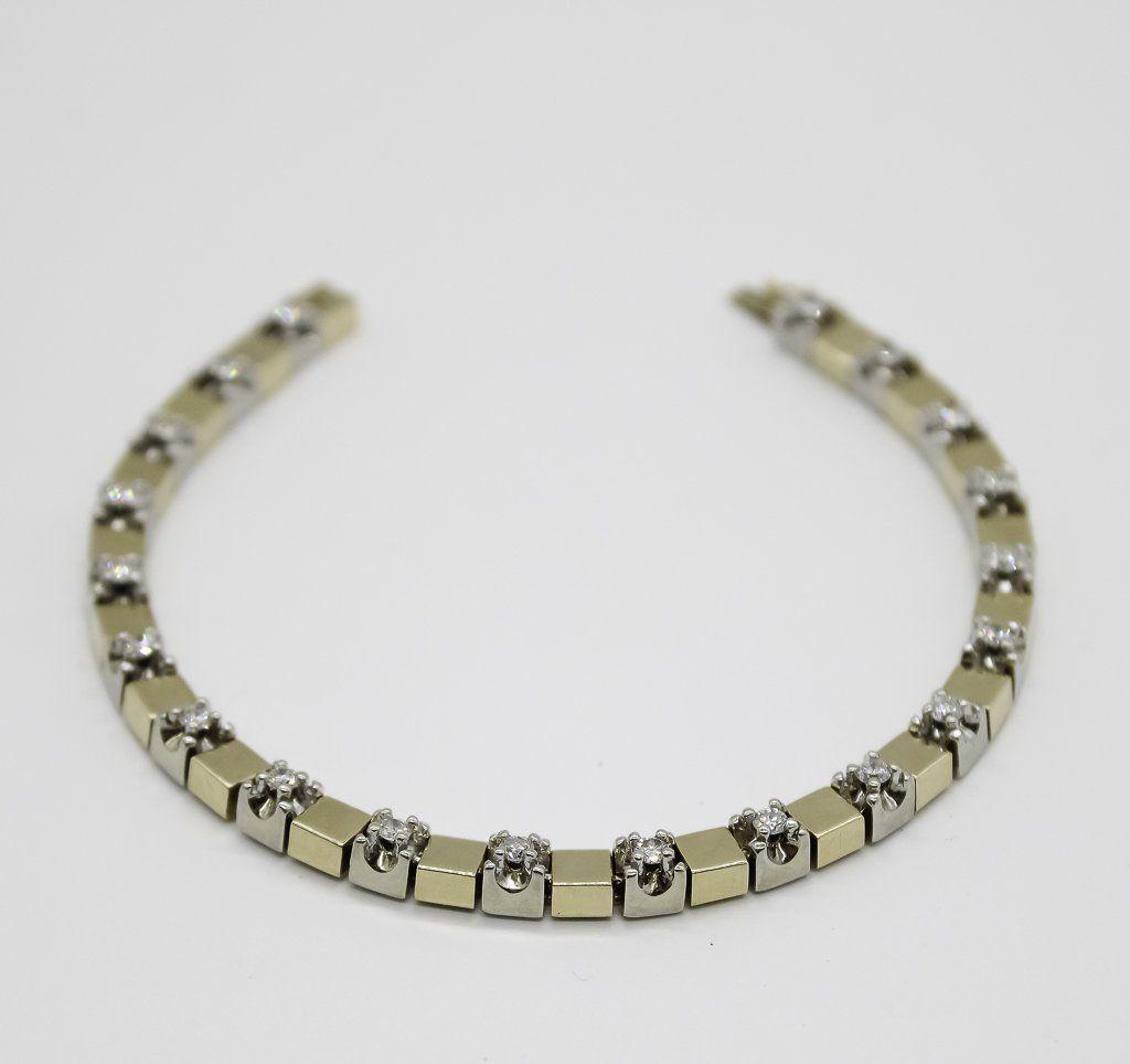 14K Y.G. Ladies Tennis Bracelet, Diamonds