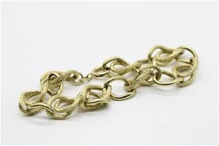 10K Gold Chain Bracelet
