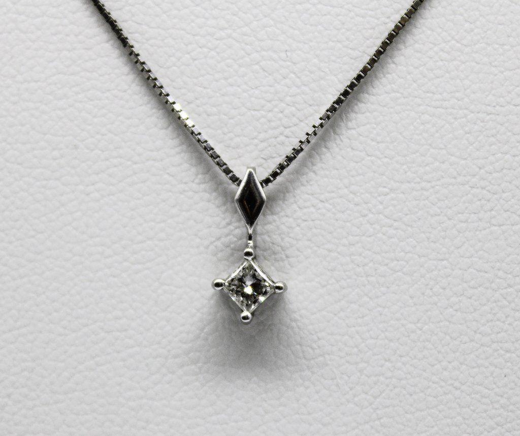 14K WG Diamond Chain Necklace. A: $1,100