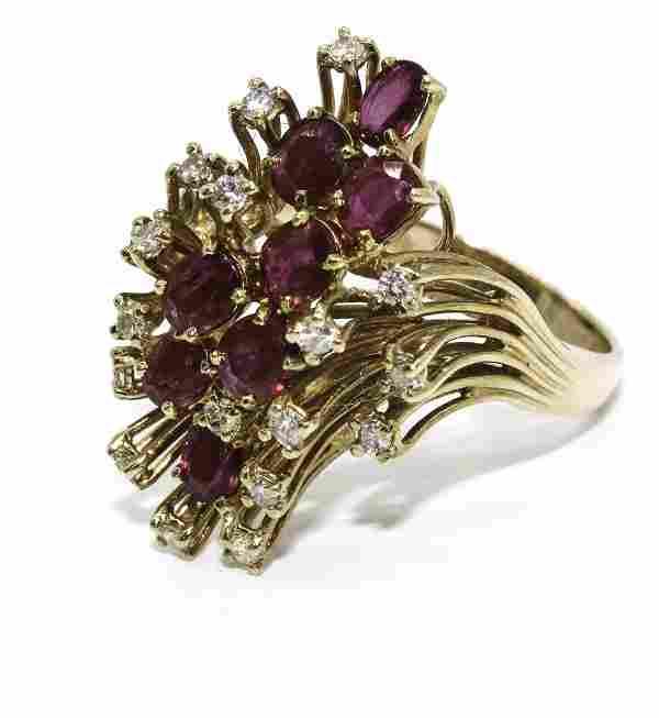 14K YG Ruby & Diamond Ring A: $2,600