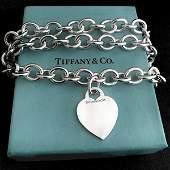Tiffany & Co 925 Heart Pendant Necklace