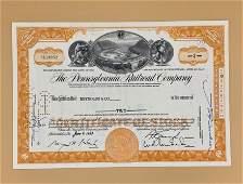 1963 Pennsylvania Railroad Company Stock