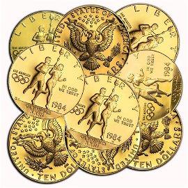 US Mint Gold $10 Commemorative Coins BU/Proof (Random