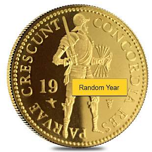 Netherlands 1 Ducat Proof/Unc Gold Coin AGW .1104 oz