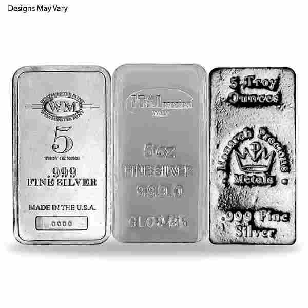 5 oz Generic Silver Bar .999 Fine