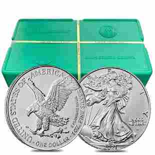 Monster Box of 500 - 2021 1 oz Silver American Eagle $1