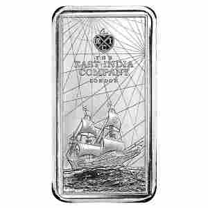 2021 St. Helena 10 oz East India Company Silver Coin