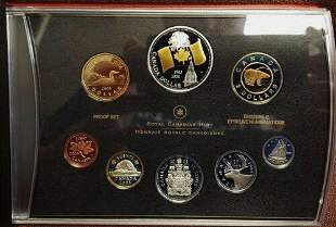Authentic 2005 Canada Silver Proof Set Canada Flag With