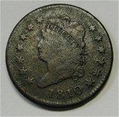 Authentic 1810 Classic Head Large Cent Grading FINE
