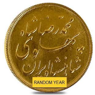 1/2 Pahlavi Legend Type Gold Coin AGW 0.1177 oz AU/BU