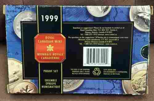 Authentic 1999 Canada 8 Coin Silver PROOF Set With