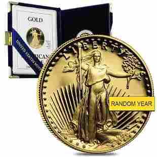1/10 oz Proof Gold American Eagle (Random Year w/Box &