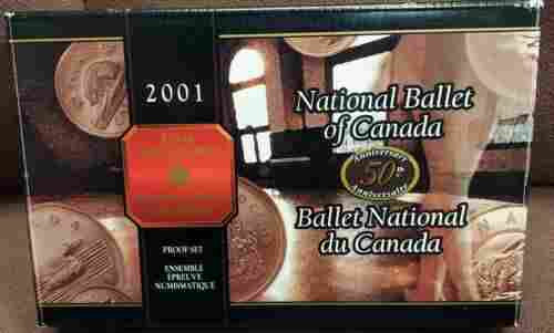 Authentic 2001 Canada 8 Coin Silver PROOF Set National