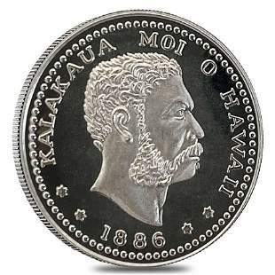 1986 Hawaii 1/2 oz Proof Silver Kalakaua Iolani Palace