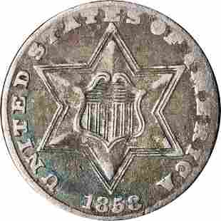 Authentic 1858 Three (3) Cent Silver Great Deals From