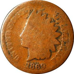 Authentic 1869 Indian Cent Great Deals From The