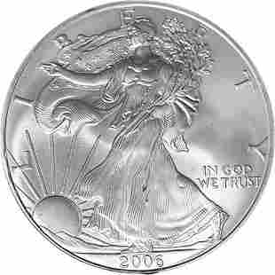 Authentic 2006 Silver American Eagle $1 NGC MS69 Brown