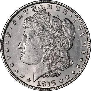 Authentic 1878-P 7TF Rev 79 Morgan Silver Dollar Nice