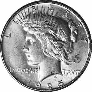 Authentic 1925-S Peace Dollar Great Deals From The
