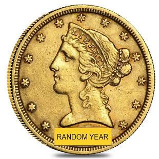 $5 Gold Half Eagle Liberty Head - Ex Jewelry (Random