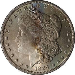 Authentic 1884-O Morgan Silver Dollar - Nice Color