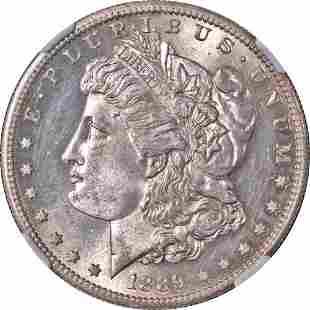Authentic 1889-S Morgan Silver Dollar NGC MS62 Nice Eye