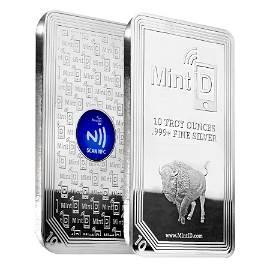 10 oz MintID Buffalo Silver Bar .999+ Fine (NFC Scan