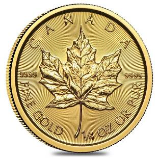 2021 1/4 oz Canadian Gold Maple Leaf $10 Coin .9999