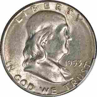 Authentic 1953-S Franklin Half Dollar PCGS MS66 Nice