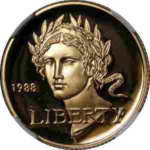 Authentic 1988-W Olympics Commem Gold $5 NGC PF70 Ultra