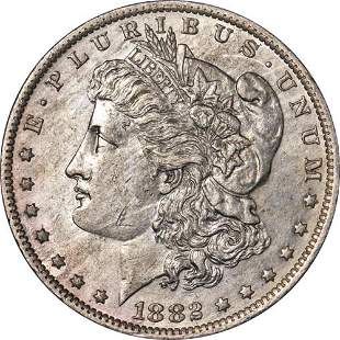 Authentic 1882-O/S Morgan Silver Dollar Flush Early Die