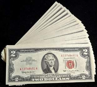 Authentic FR. 1513 $2 1963 Legal Tender 451-499 49pc