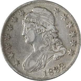 Authentic 1832 Bust Half Dollar Choice XF+ 0-104 R.3